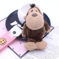 可爱卡通大象猴子汽车钥匙圈钥匙扣圈情侣毛绒书包挂件挂饰小礼物