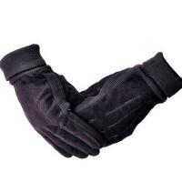 冬季秋冬骑车防寒真皮欧美男士猪皮绒手套加厚保暖休闲皮手套男