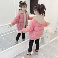 女童棉衣2018新款韩版潮女孩加厚中长款洋气冬装棉袄外套儿童棉服