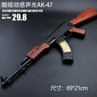 电动玩具枪男孩 玩具冲锋枪电动枪 儿童玩具枪声光机关枪M 官方标配