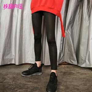 【尾品汇大促】妖精的口袋铅笔裤子秋装2018新款百搭外穿韩版小脚裤薄款女