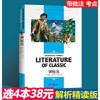神秘岛 学生新课标必读 世界经典文学名著 名师精读版