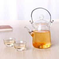 耐热玻璃茶壶 提梁壶小容量300ML泡茶煮茶家用功夫茶耐热玻璃提梁壶烧水玻璃壶
