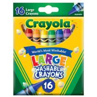 美国Crayola绘儿乐儿童无毒 16色可水洗大蜡笔 套餐组 52-3281