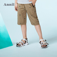 【3件3折:71.7】安奈儿童装男童时尚七分休闲裤夏装新款