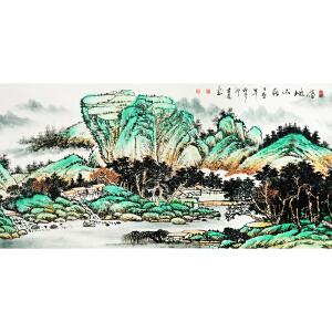 郭建亮《福地山庄》著名画家 有作者本人授权