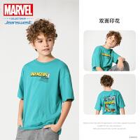 [618提前购专享价:34.9元]真维斯男童 2020新款 漫威复仇者联盟圆领印花短袖T恤