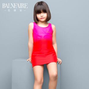 范德安2016新款儿童裙式连体泳衣 中大童可爱公主女童防晒游泳衣