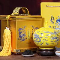 大�t袍茶�~�Y盒�b250g陶瓷罐�b武夷�r茶肉桂�觚�茶