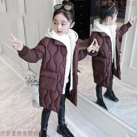 2019新款女童棉衣冬装外套中长款儿童加厚棉袄韩版洋气中大童