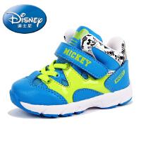 迪士尼男童鞋米奇儿童鞋学步鞋宝宝鞋运动鞋高帮加绒保暖