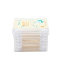 婴儿棉签 棉花棒不起毛棉棒 63支盒装 葫芦形双头