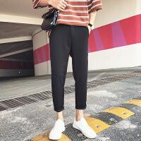 九分裤男夏季新款韩版修身黑色弹力小脚裤西装裤学生裤子