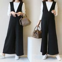 孕妇套装秋季孕妇装秋冬装2018新款韩版宽松背带裤休闲两件套