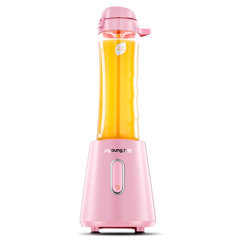 九阳(Joyoung)榨汁机便携式 双杯 料理机 迷你型L6-C3(粉)