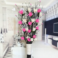 假花仿真花客厅落地叶脉干花花束摆件插花摆设居家室内新房装饰花