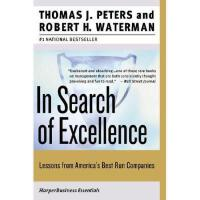 In Search of Excellence 英文原版 追求* 《福布斯》20世纪20本商业书之一 经典工商管理书籍