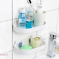 韩国强力吸盘置物架洗漱架浴室吸壁式收纳架卫生间用品无痕 白