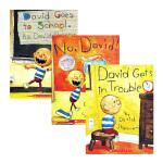 英文原版绘本3 6岁 国外经典进口 No David 大卫不可以绘本系列全套3册 吴敏兰英文书单 David Gets