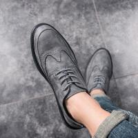 米乐猴 潮牌夏季布洛克雕花男鞋透气男休闲鞋英伦复古小皮鞋韩版百搭板鞋潮鞋