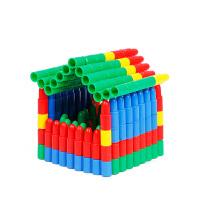 头积木塑料拼插构建式玩具 儿童宝宝拼装积木