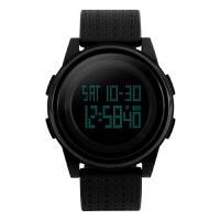 PU电子手表女生 LED男学生手表闹铃腕表