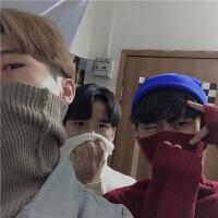 韩国INS同款复古经典百搭纯色高领毛衣 17FW男女款