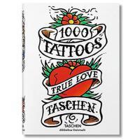 【包邮】英文原版现货  1000 Tattoos 1000个纹身图案 人体艺术 图纹图案书籍  9783836549929