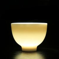 汉馨堂 茶杯 羊脂白玉瓷茶杯陶瓷单杯品茗杯功夫茶主人杯个人杯