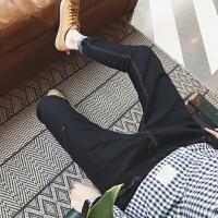牛仔裤男冬季小脚青少年学生长裤韩版修身型青年男裤子秋冬款潮流