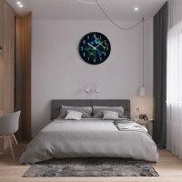 挂钟客厅现代创意时钟静音卧室钟表时尚简约圆形石英钟挂表