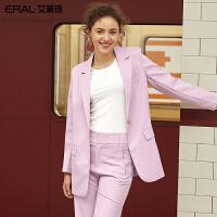 艾莱依2019春夏季新款一粒扣休闲小西装气质女式短外套601814010