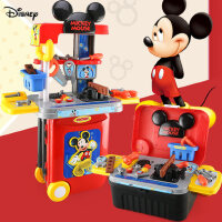 雄城迪士尼米奇系列过家家工具拉杆箱旅行箱3合1男孩动手操作玩具