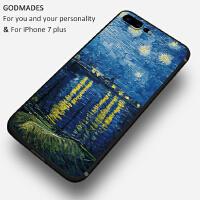 油画苹果7plus手机壳个性创意iphone6男女款6s硅胶全包防摔保护套