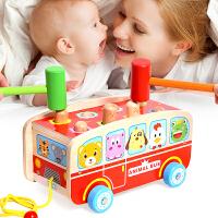 儿童拖拉打地鼠玩具幼儿智力大号宝宝敲击游戏机男女孩0-1-2-3岁6