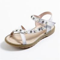 女童凉鞋公主鞋夏季新款中大童小学生露趾罗马儿童凉鞋女