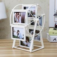 520创意DIY手工定制照片风车旋转相框摆台相册结婚摆件女生母亲节