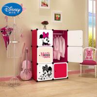Disney迪士尼米妮 6门4格1挂(2列3) 收纳柜储物柜整理柜简易衣柜衣橱(赠磁铁)