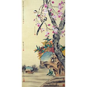 R75江寒汀、唐云、张大壮、陆抑非《花鸟》