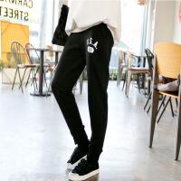 孕薇韩版春秋女孕妇装休闲裤运动裤托腹孕妇长裤子瑜伽高腰产后也可穿