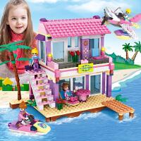 兼 容乐高积木拼装玩具益智女孩系列儿童4别墅6公主7梦8城堡10岁