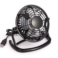 小风扇4寸塑料旋转静音小电扇宿舍笔记本电脑迷你USB电风扇 黑色