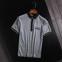 国内尾单男式翻领短袖POLO衫商务休闲青年上班工装百搭半袖T恤衫