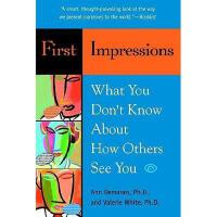 【预订】1st Impressions What You Dont Know about How Others
