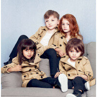 男孩宝宝风衣外套男1-3岁7男童潮秋冬款女童幼儿男宝小童大衣加厚