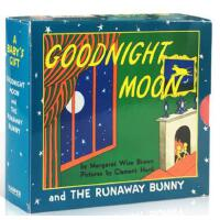 英文原版绘本 2册 晚安故事 纸板书 A Baby's Gift: Goodnight Moon and The Ru