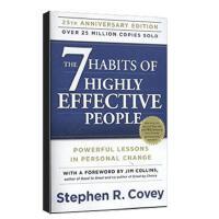 【现货】英文原版 高效能人士的七个习惯 The 7 Habits of Highly:Powerful Lessons in Personal Change 25周年纪念平装版 7个习惯