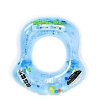 婴儿游泳圈新生幼儿童泳圈小孩宝宝救生圈趴圈 腋下圈浅蓝S码【适于0-6月】