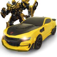 儿童遥控变形金刚玩具汽车机器人模型男孩玩具