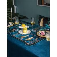 欧式餐垫 北欧植物双层西餐垫 布艺隔热垫杯垫餐桌垫
